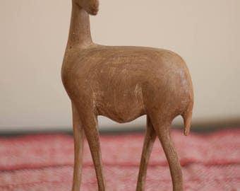 Vintage carved African Antelope/Gazelle/Impala statue