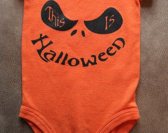 This is Halloween Onesie 6 month Size
