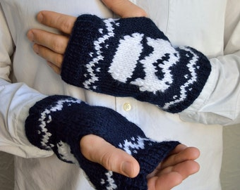 Hand knitted unisex ''Star wars'' arm warmers