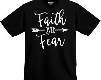 Faith over Fear shirt, Faith shirt, Christian Shirt, Religious Shirt, Religious Gift, Christian Gift, Church Gift, Christ Shirt, Jesus Shirt