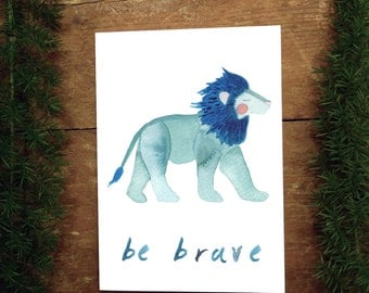 Be Brave Little Lion Greeting Card