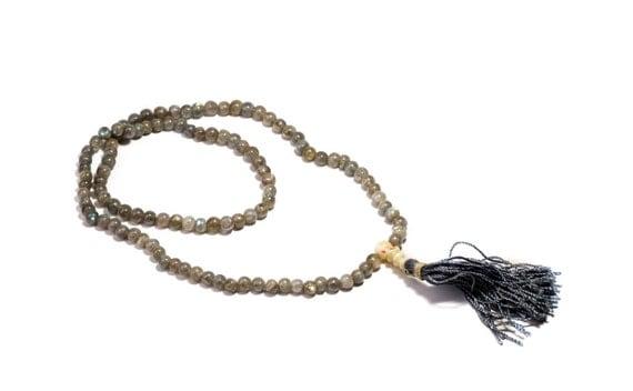 Mala Meditation Beads Labradorite 108 Mala beads  Yoga Jewellery Prayer Beads  Buddhist Free UK Delivery + Gift Bag M10