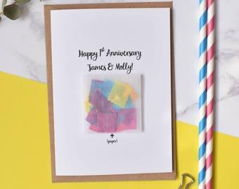 1st Anniversary 'Paper' Confetti Card
