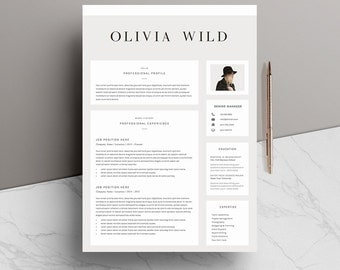 resume template 5 pages cv template cover letter references for ms word - Resume Template Pages
