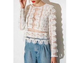 Lace blouse | Etsy