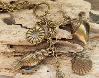 Cascade of Shells Necklace for an ocean lover