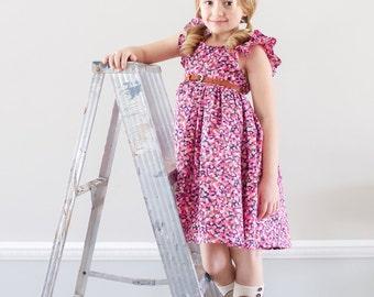 Spring Dress. girls easter dress.