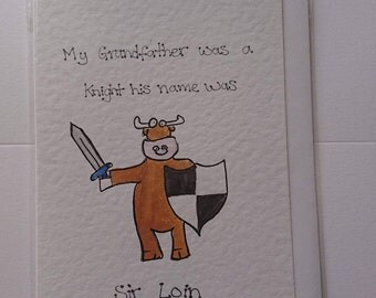 Sir Loin - Farm Joke Hand Drawn Greeting Cards, Animal Jokes, Cow Jokes