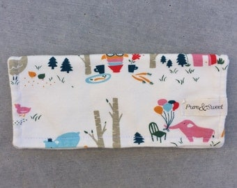 Organic Burp Cloth, Animal Picnic