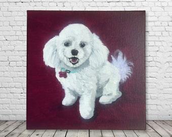 Custom Pet Portrait - Original Acrylic Painting - hand painted