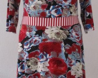 Jersey dress 3/4 sleeve knee-length Gr. 38, advent discount