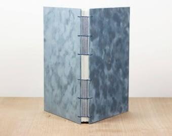 Art Journal, Velvet Notebook, Blank Sketchbook, Dot Grid, Lined Notebook, Watercolor Journal, Handmade Book, Blue, Staff Paper, Large Book