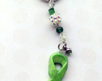 10% off Lyme Disease Awareness Ribbon keychain