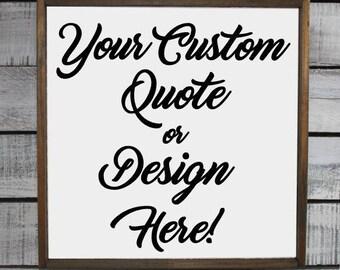 "Wood Sign - Home Decor - Custom Design 13.5"" x 13.5"""
