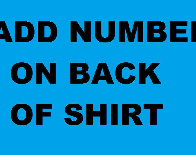 Add Number On Back Of Shirt