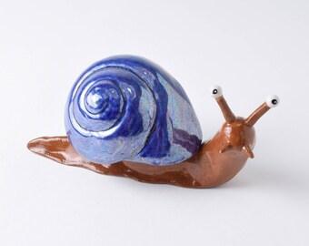 Snail ornament / gift for gardener / ceramic snail / snail art / snail gift