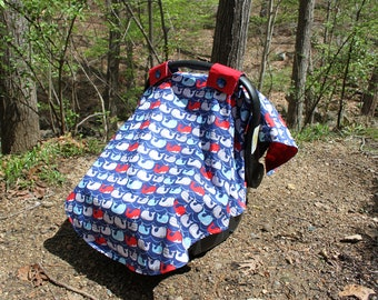 Whales Car Seat Canopy Cover