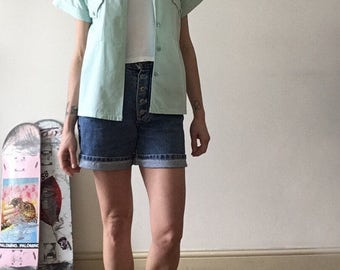Green Shirt / Mint / 100% Cotton / Spring / Summer