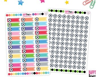 Football, Sport Functional Planner Stickers