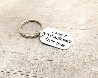 Father's Day Keychain from Daughter - Personalized Dad Keychain - Father's Day Keychain - New Dad Gift