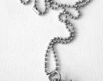 Ship wheel and anchor ball chain pendant necklace nautical marine stainless steel necklace UK