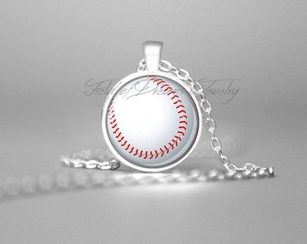 BASEBALL NECKLACE Coach Gifts Sports Jewelry Sports Coach Pendant Baseball Necklace Baseball Charm Gift for Coach Baseball Fan Gifts