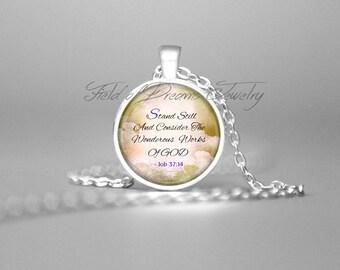 JOB 37:44 BIBLE SCRIPTURE Bible Verse Christian Jewelry Scripture Jewelry Scripture Pendant Bible Quote Jewelry Scripture Pendant Gift