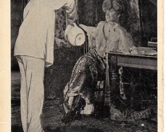 Vintage Postcard 1960's Unused  Paper Ephemera Nurse After the Ball Soaking Man's Feet 1909 Postmark