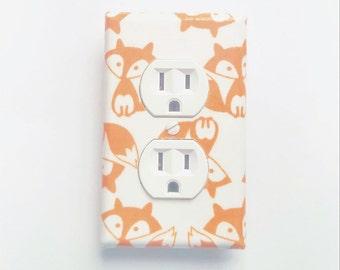 Cute Fox Light Switch Cover, Fox Nursery, Fox Decor, Fox Theme, Fox Wall Art, Fox Wall Decor Fox Art, Fox Room Decor, Fox Switch plate