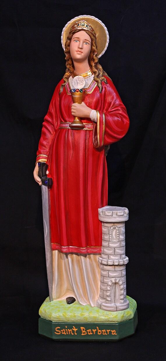 "St. Barbara 18"" Catholic Christian Religious Plaster Statue"