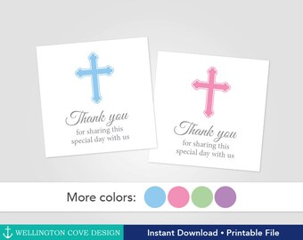 Confirmation tags etsy printable baptism favor tags christening favor stickers thank you tags first communion negle Choice Image
