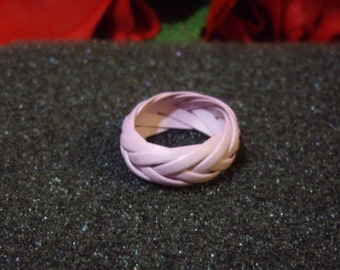 Handmade Purple Braided Band Ring, Weaved Lavender Ring, Available, Size 8