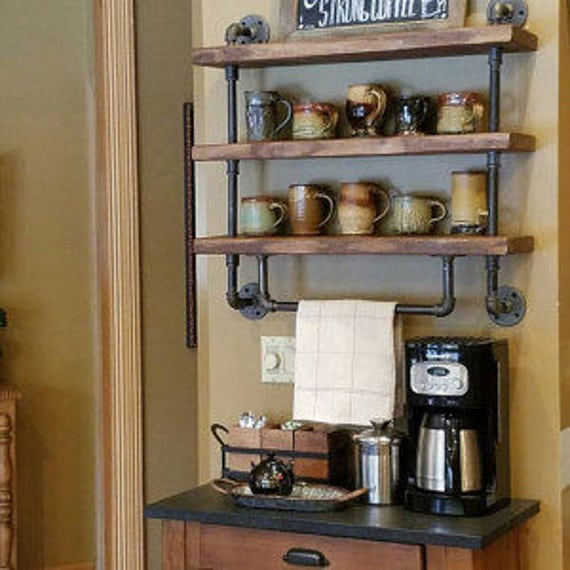 Pipe Shelves Kitchen