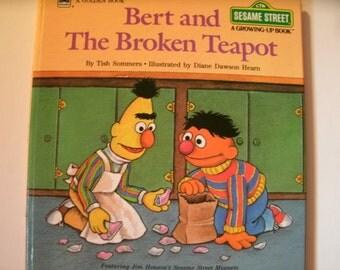 Bert and the Broken Teapot, Sesame Street, 1985, Growing Up Book, Jim Henson