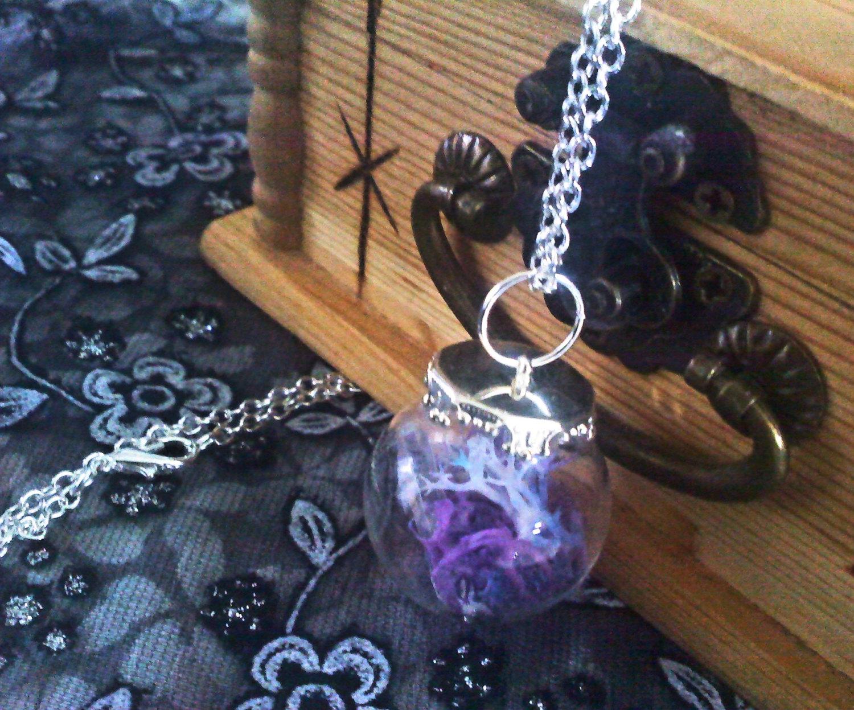 Rainbow Moss Bulb Necklace
