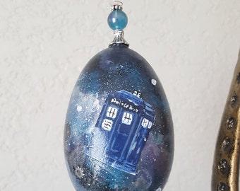 Dr. Who Egg Ornament