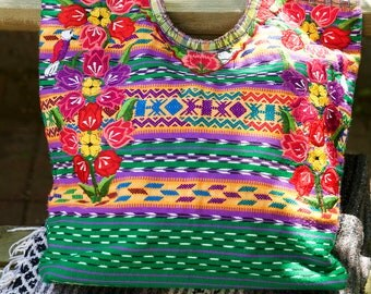 Colorful, Hand Embroidered Mexican Market Tote (Must. Have.)
