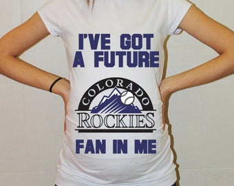 Colorado Rockies Baby Colorado Rockies Shirt Women Maternity Shirt Funny Baseball Pregnancy Pregnancy Shirts Pregnancy Clothing