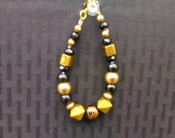 Black and Gold Mod Bracelet