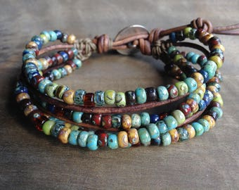 Bohemian bracelet boho chic jewelry boho bracelet boho chic bracelet hippie bracelet boho jewelry gypsy womens jewelry bohemian jewelry