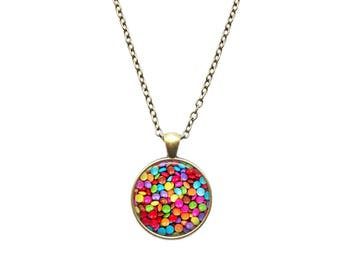Sweets necklace Chocolate jewelry Candy pendant