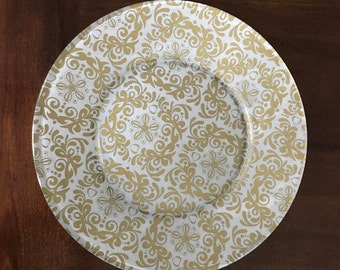 Gold Glass Plates