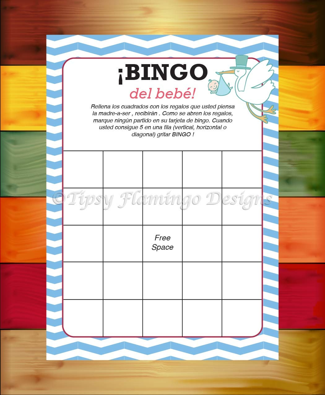 Baby Shower Games In Spanish: UNIQUE Spanish Baby Shower Game Spanish Bingo Espanol Baby