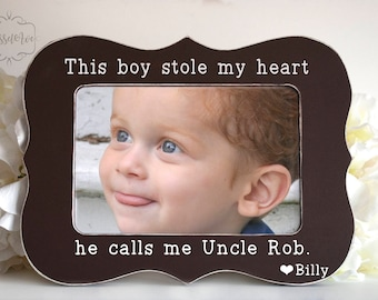 this boy stole my heart he calls me uncle uncle picture frame fathers day 4x6