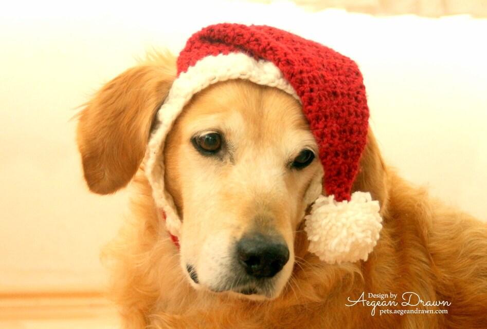 Santa hat for dogs dog holiday christmas