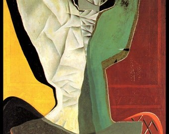 "Salvador Dali, Salvador Dali Print, Salvador Dali Art, Dali Poster, Surrealist, Weird, Strange, Dali, Altered Art, ""Harlequin"" Circa 1927"