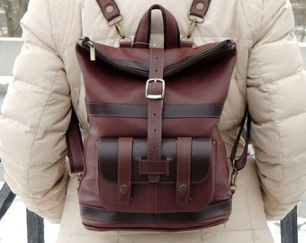 """Brown leather backpack """"Tessa"""""""