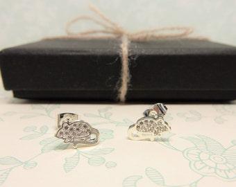 Mouse Earrings, Small Studs, Mice Jewellery, Petite Earrings, Animal Jewelry