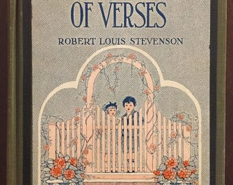 A Child's Garden of Verses, by Robert Louis Stevenson, 1926 vintage book