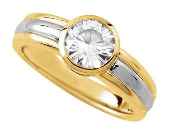 Men's 1.00 Carat (6.5mm) Forever One Moissanite Solitaire Wedding Engagement Ring, Mens Moissanite Rings, For Men, Anniversary
